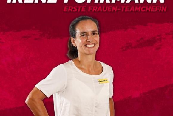 Irene Fuhrmann als Teamchefin